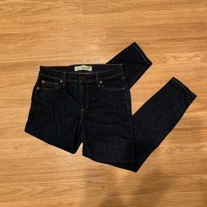 Gap indigo blue true skinny ankle jeans